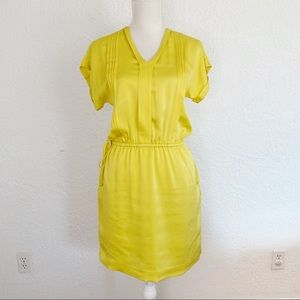 BANANA REPUBLIC Yellow Blouson Dress. Size XS